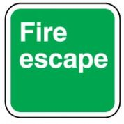 Safe Safety Sign - Fire Escape 011